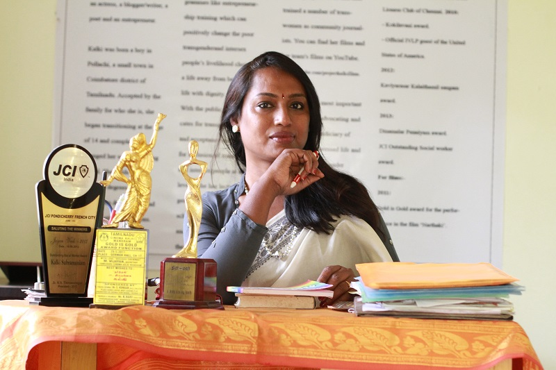 Kalki Subramaniam at her office